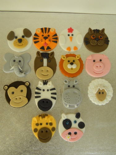 14 Animal Cupcake Toppers